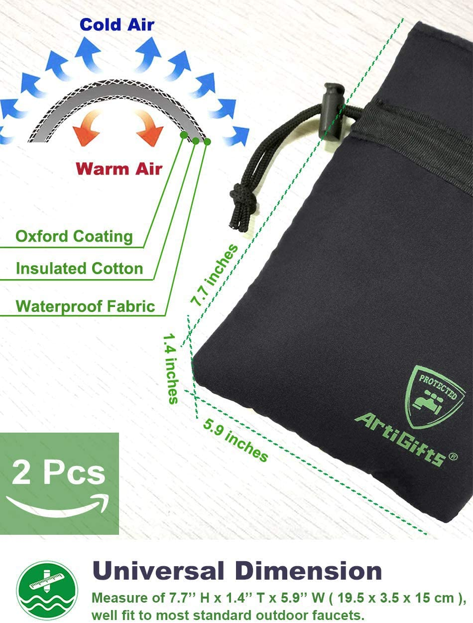 Outdoor Faucet Cover Winter Faucet Socks for Freeze Protection set of 2