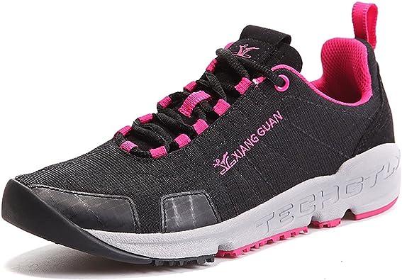 Zapatillas Deportivas para Correr y Caminar Ligeros con un Bolsillo en la lengüeta para Mujer 16092 Negro 41: Amazon.es: Zapatos y complementos