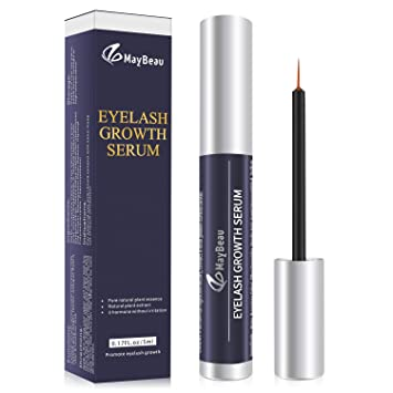 f06e86c1b3b Amazon.com: MayBeau Eyelash Growth Serum,Natural Brow Lash Enhancer,Nourish  Damaged Lashes and Boost Rapid Growth for Any Kind of Lash: Beauty
