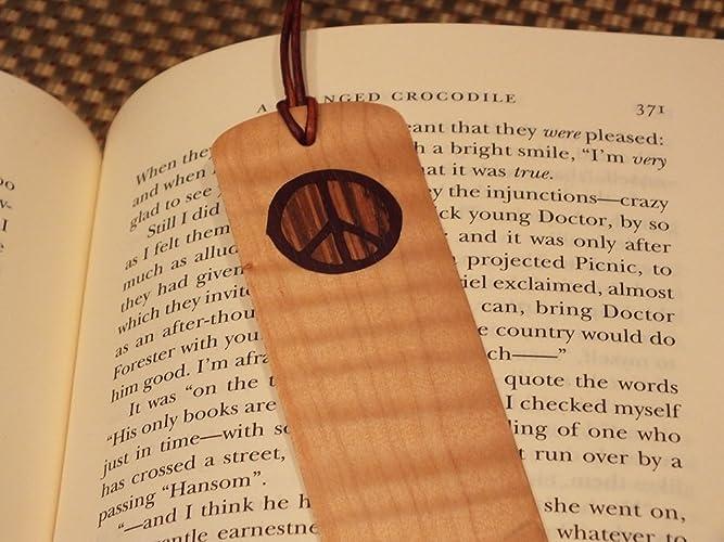 Amazon Bookmark Piece Symbol Hand Cut Marquetry Wood Inlay
