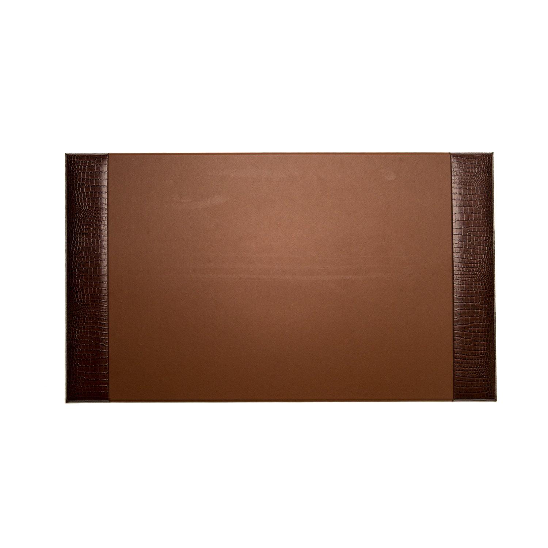 Paloma Collection AJ-D1423 ''Croco'' Leather Desk Pad, 20'' x 34'', Brown