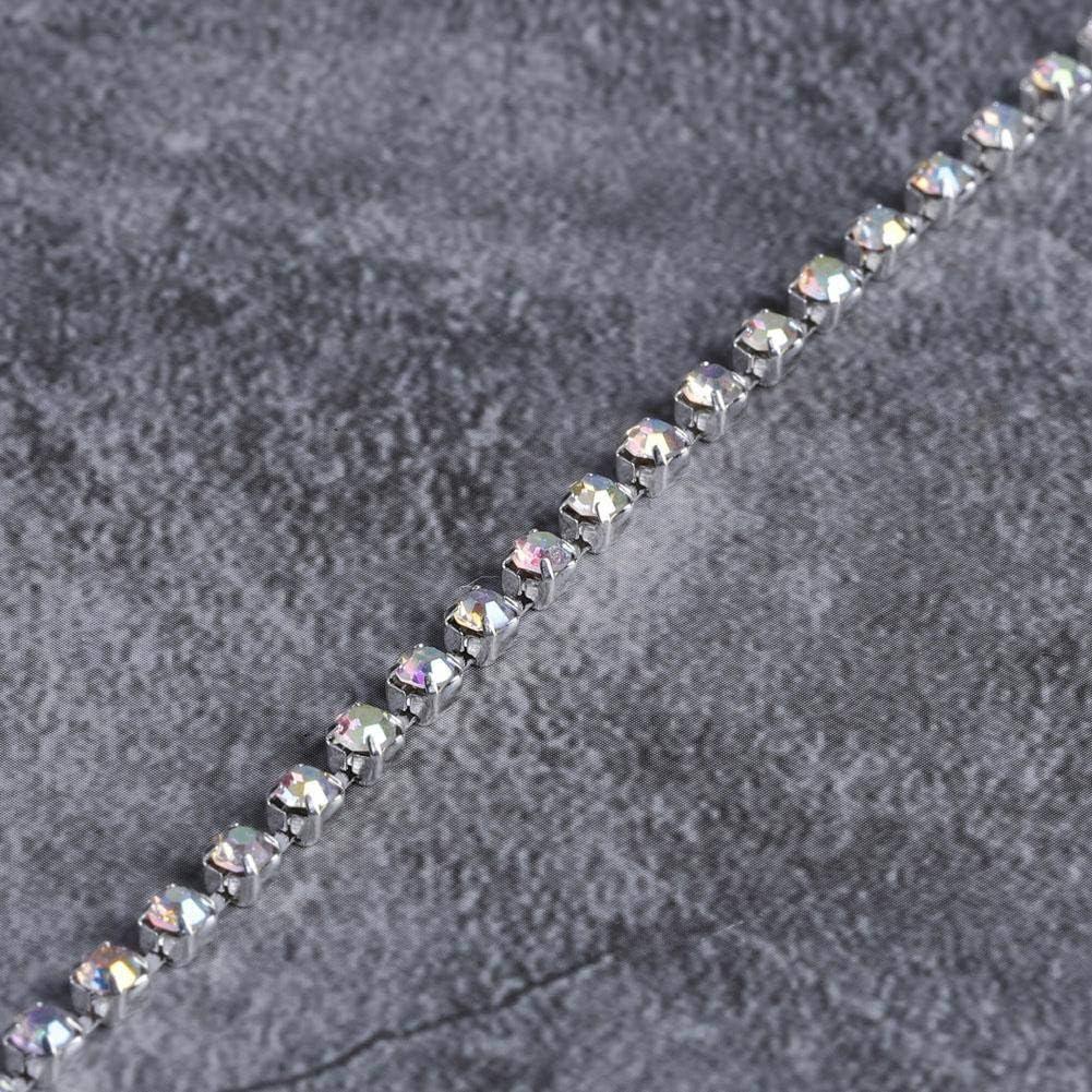 SS16 Gold 10 Yard Strass Kette DIY Faux Diamond Crystal Mesh Wrap Roll f/ür Hochzeitsfeier Blumenarrangements