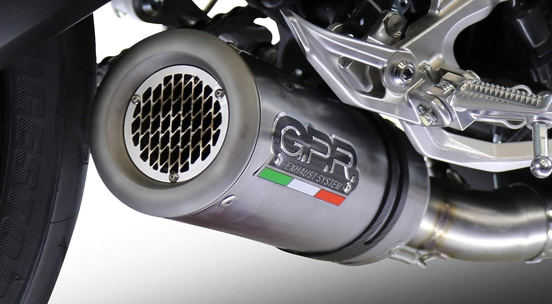 GPR Italie t.63.m3.TN terminale homologu/é avec raccord Triumph Speed Triple 1050/2007//10/m3/Titanium Natural Simple basse RX