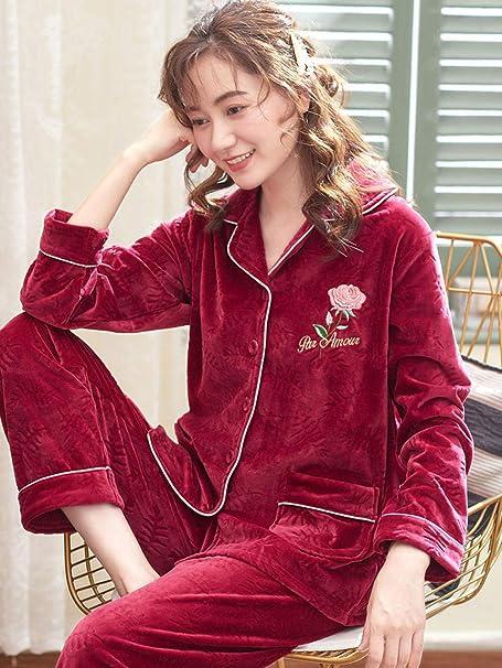 Bayrick Pijama Invierno Mujer Polar,Conjunto de Pijamas para ...