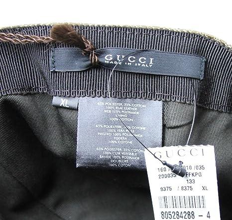 aa3b1247637 Gucci Men s Cotton Blend Gg Canvas Web Baseball Hat Cap X-Large Beige   Amazon.co.uk  Clothing