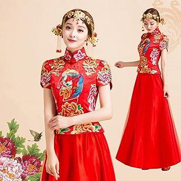 JJK Hochzeitskleid Bild Chinesische Braut Hochzeit Roten Kleid Rock ...
