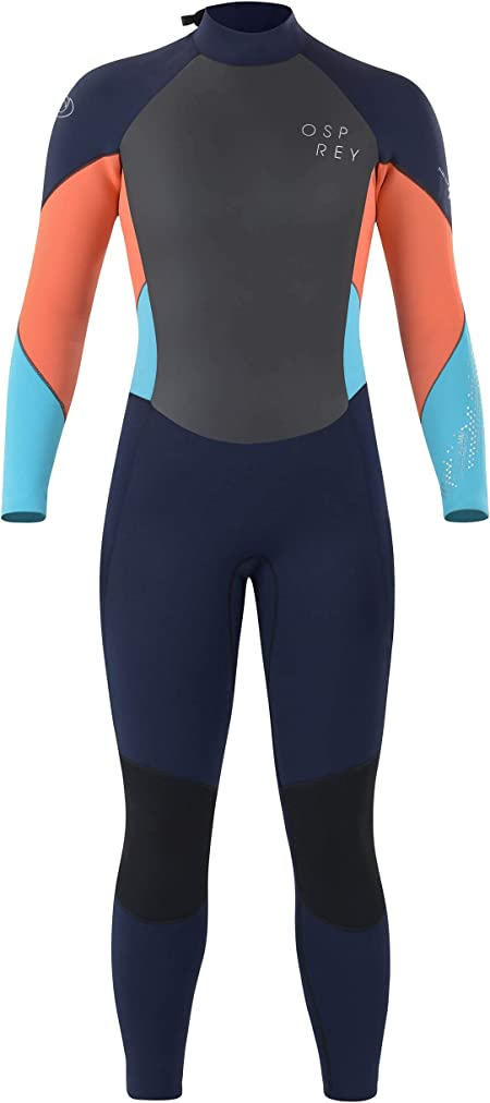 X-Large Adult Neoprene Surfing Diving Wetsuit Osprey Womens Full Length 5 mm Winter Wetsuit Purple Zero
