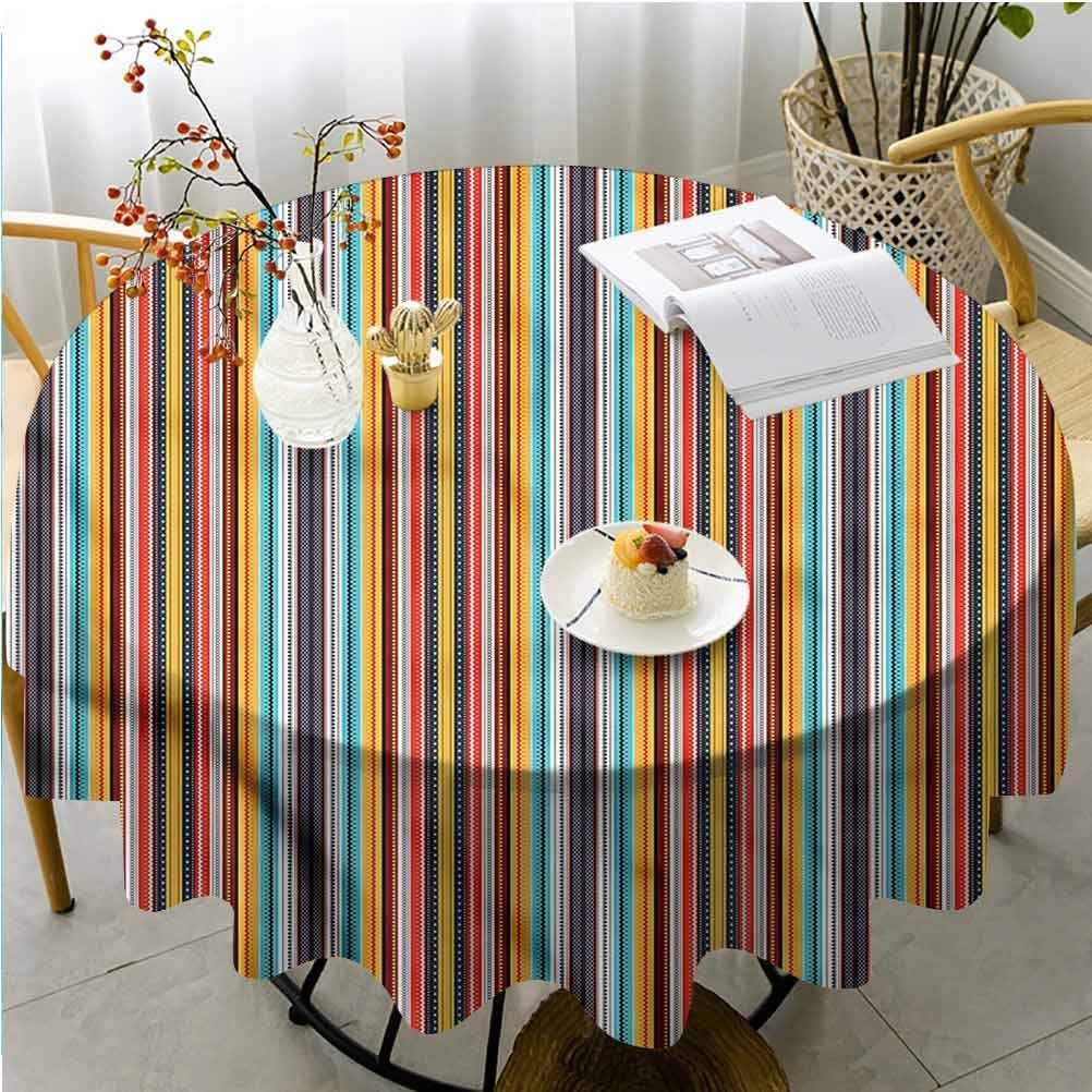 Bohemian 55/'/'Round Polyester Tablecloth Cover Home Party Banquet Table Decor