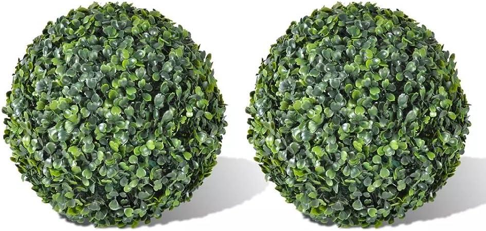Verde Palla Artificiale Casa Giardino Decorazione Topiaria Fioriere per Foglie Fiore Plastica 12 cm