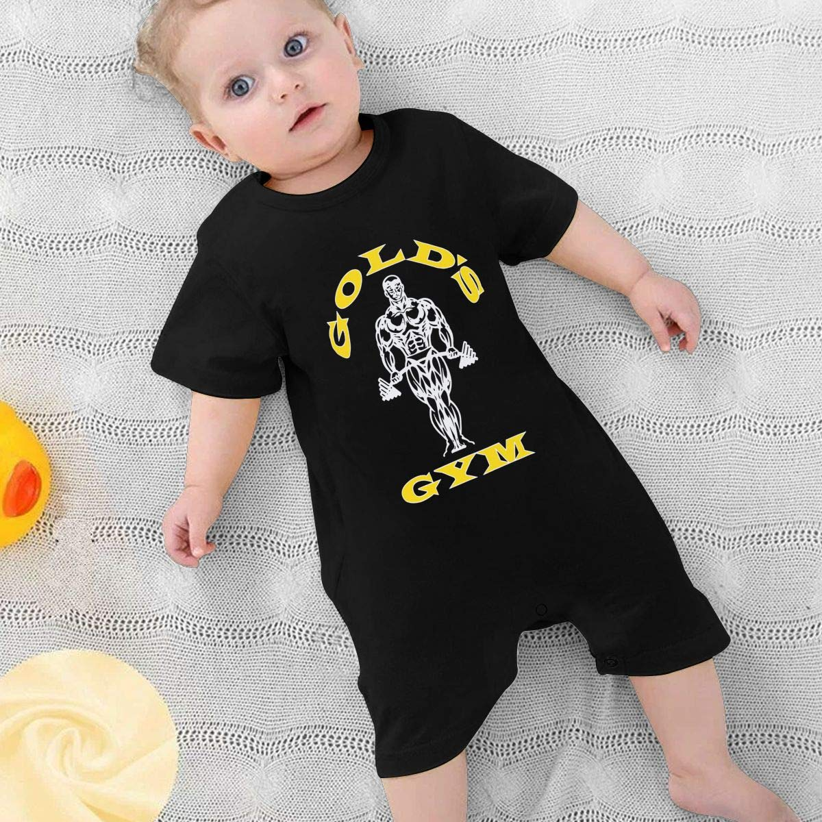 Baby Boys Girls Romper Jumpsuit Golds Gym Newborn Short Sleeve Bodysuits Infant Outfit Funny Onesie for 0-2T