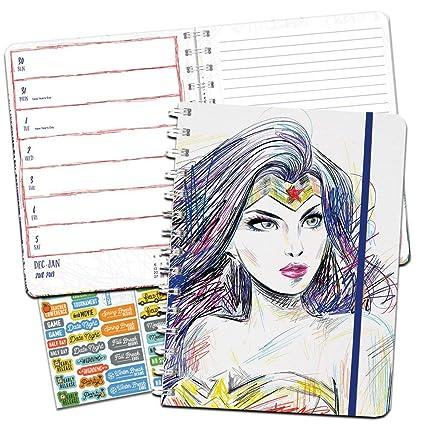 Wonder Woman Weekly Planner 2019 Set -- Deluxe Wonder Woman 2019 Weekly Monthly Planner with DateWorks Calendar Stickers (Spiral Bound, Hardcover; ...