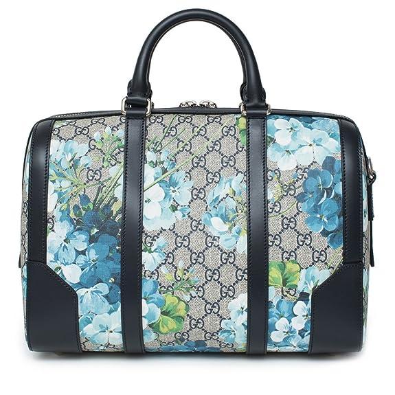 36363f0b33b Amazon.com  Gucci Blue Small gg Blooms Blossom Duffle Bag Canvas Boston Bag  Authentic New  Shoes