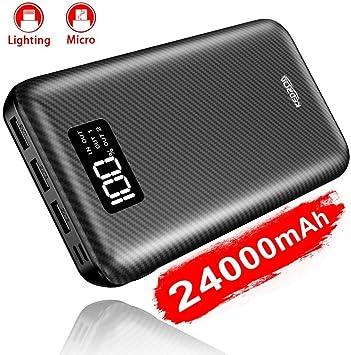 KEDRON Power Bank 24000mAh con 2 Entrada y 3 Salida USB, Cargador ...