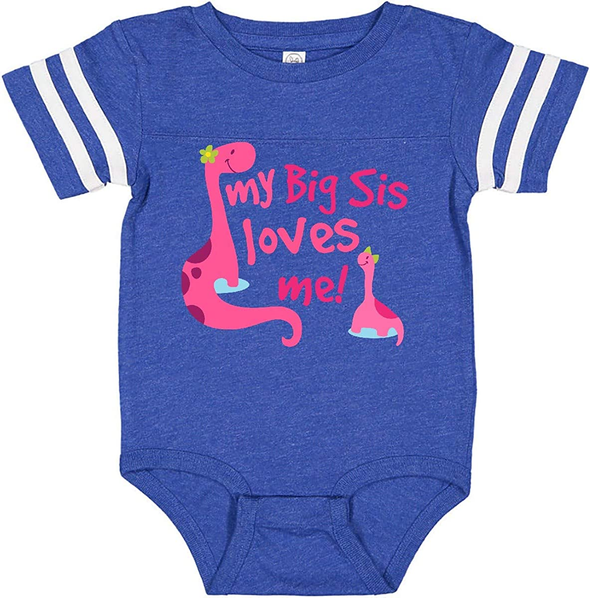 inktastic My Big Sis Loves Me Little Girls Infant Creeper