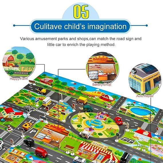 Amazon.com: Euone Mapa de coche, alfombrilla de juegos para ...
