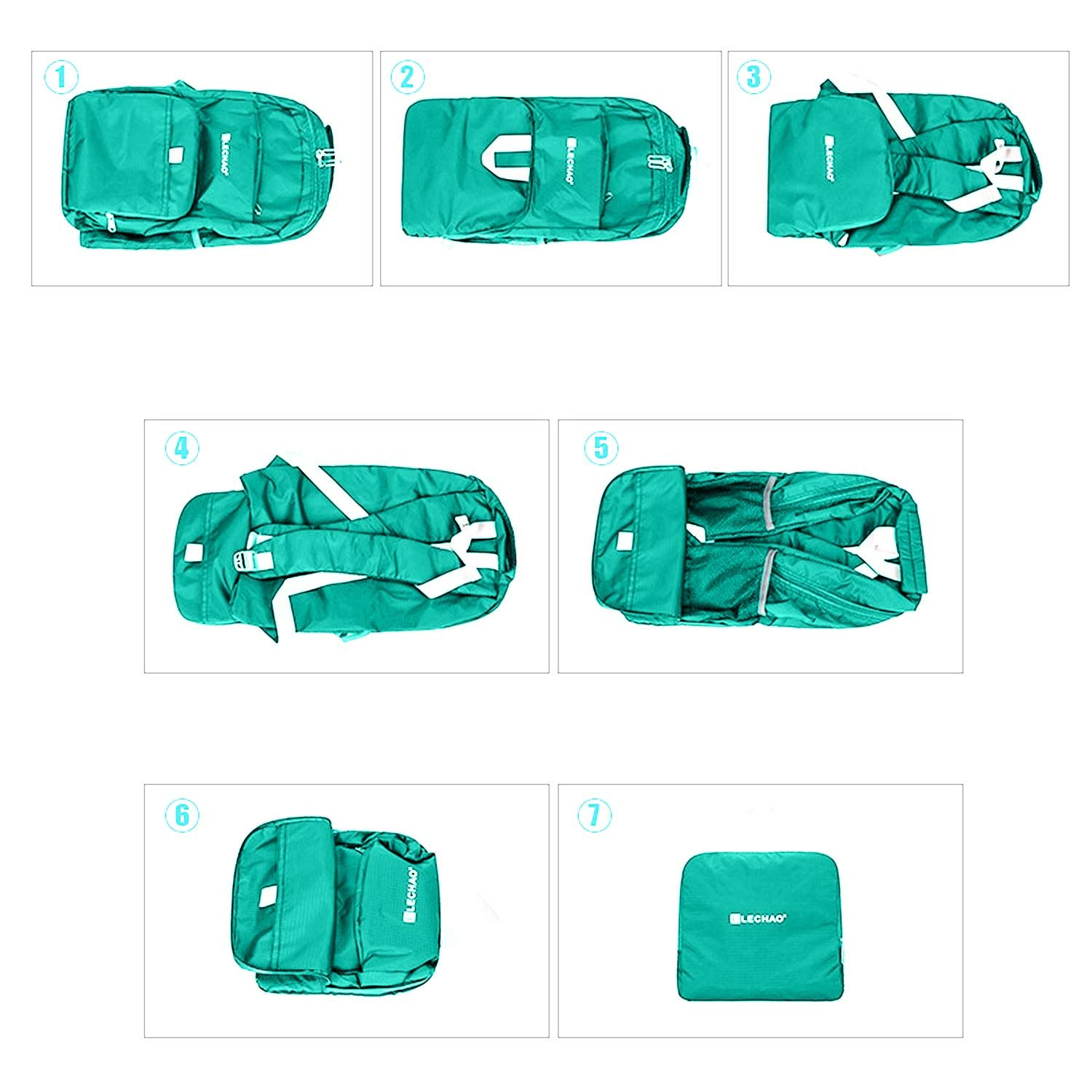 Packable Backpack Foldable Daypack Lightweight Carry on Camping Hiking Biking Travel