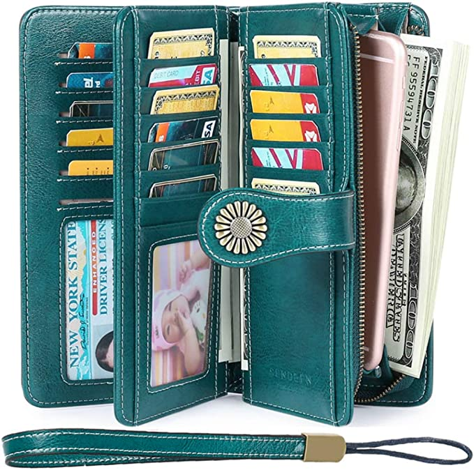Elegant Wallets Capacity Leather Trifold