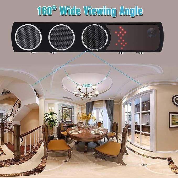 Altavoz de cámara Oculta - Cámara espía - Mini 1080P WiFi HD Visión Nocturna IR Detección de Movimiento inalámbrica - Grabadora de Video Nanny CAM ...