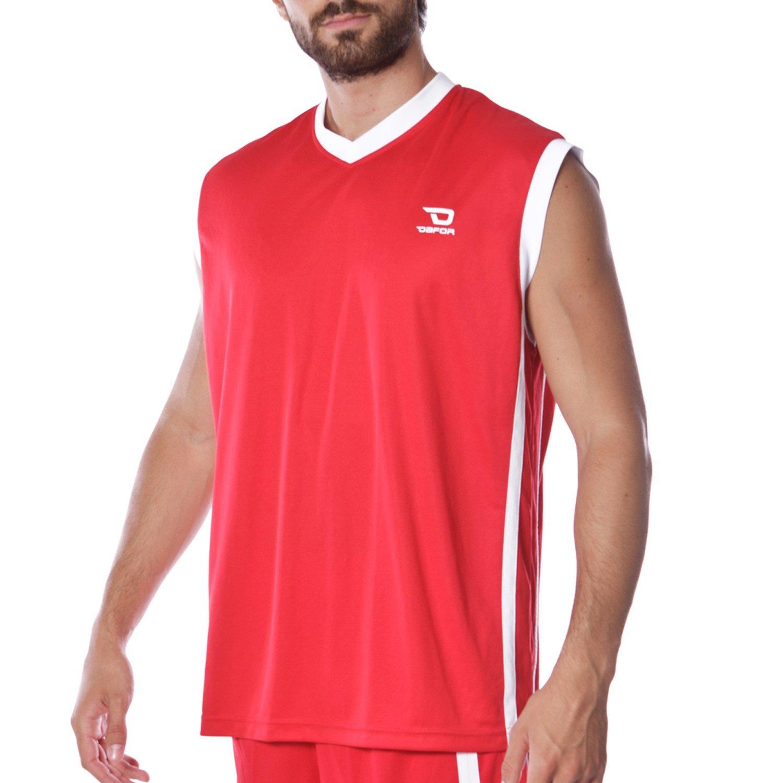 Dafor Camiseta Baloncesto Roja (Talla: L): Amazon.es: Ropa y ...