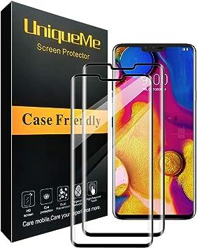 UniqueMe [2-Pack] Protector de Pantalla para LG V40 ThinQ ...