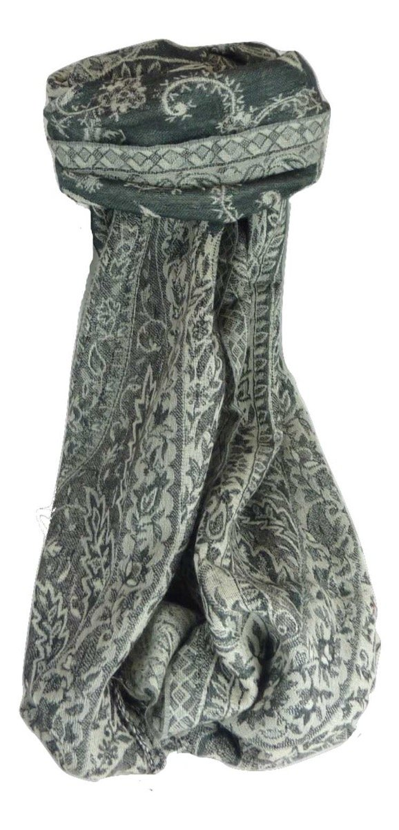 Muffler Scarf 4613 in Fine Pashmina Wool from the Heritage Range by Pashmina & Silk