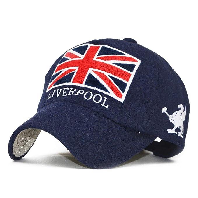 Amazon.com  Baseball Cap Unisex Couple Cap Liverpool England Flag Hats for  Men Snapback Cap  Clothing 9d02317b459