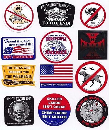 Army American Flag USA Hard Hat Sticker Decal Trade Union Organized Labor U.S