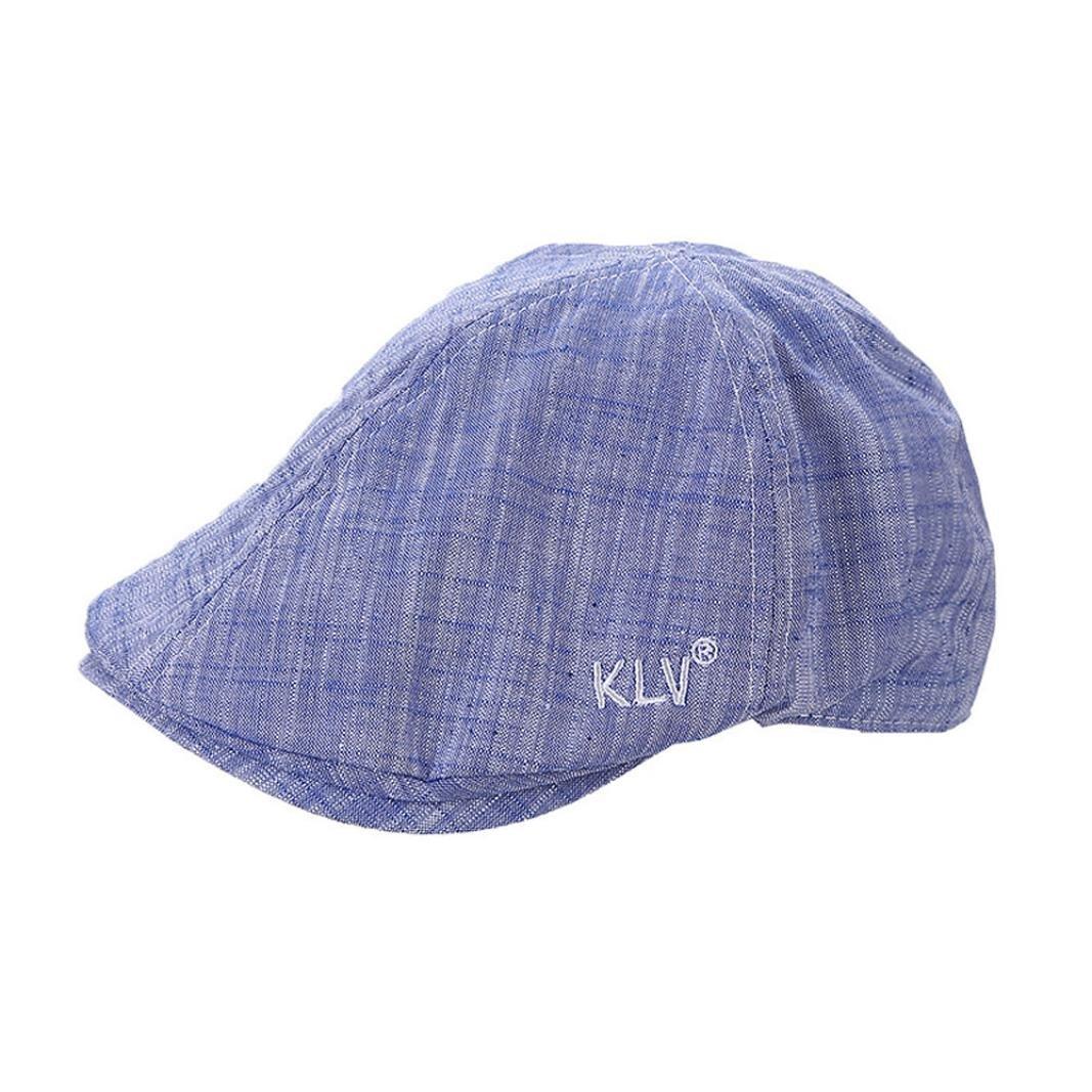 Creazy Mens Women Vintage Leather Beret Cap Peaked Hat Newsboy Sunscreen