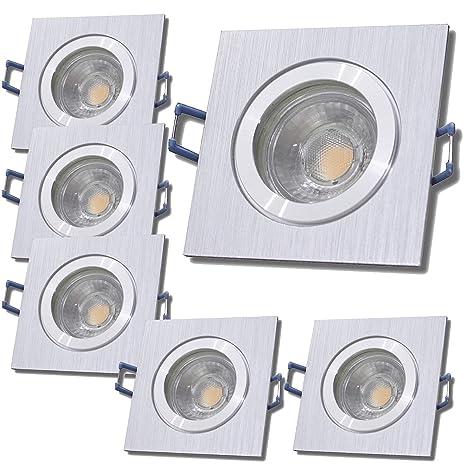 5W Neutralweiß 230V IP44 6 Stück LED Badezimmer Einbauleuchten BiColor
