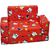 Occasions Single Seater Sofa For Kids (Fabric, Red)