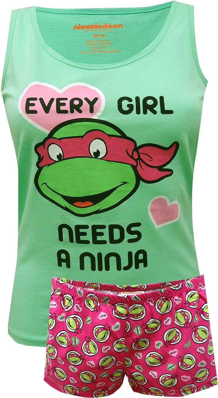 Briefly Stated Women's Teenage Mutant Ninja Turtle Ladies Plus Size Shortie Pajama
