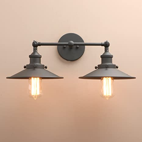 Pathson industrial wall sconce with vintage style 2 light bathroom pathson industrial wall sconce with vintage style 2 light bathroom light fixtures mid aloadofball Images