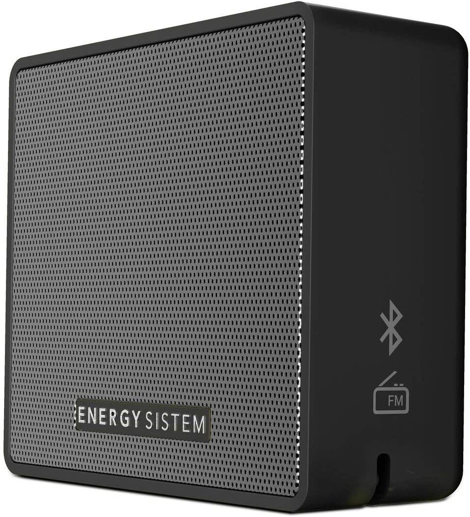 Energy Sistem Box 1+ Altavoz inalámbrico portatil con Bluetooth (5 W, microSD MP3, FM Radio, Audio-In) Slate