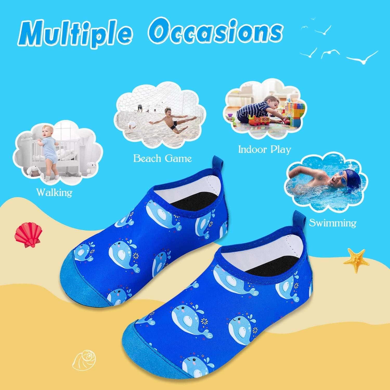 Kids Water Shoes Girls Boys Toddler Non-Slip Quick Dry Aqua Socks for Beach Swim Walking