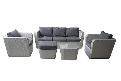 Amazon.de: DCB Garden Lounge unten grau 195 x 75 x 66 cm pvc ...