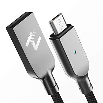 Cable Micro USB, ZKAPOR 2M Android Cargador Micro USB de Nylon Trenzado - Sincronización y Carga Rápida para Samsung Galaxy S7/ S6/ J3/ J5/ Note5, ...
