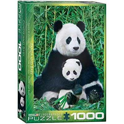 EuroGraphics Panda and Baby 1000 Piece Puzzle: Toys & Games
