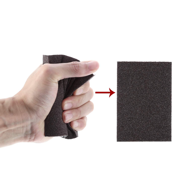 Washable and Reusable Sand Sponge Kit 8 Pieces Sanding Blocks Sanding Sponge Medium Grade