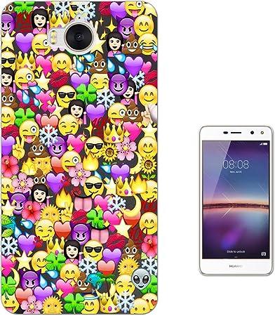 002316 - Collage Emoji Smiley Faces Cool Design Huawei Y6 (2017 ...