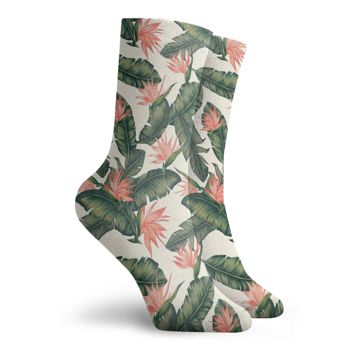 Feather Green Unisex Funny Casual Crew Socks Athletic Socks For Boys Girls Kids Teenagers