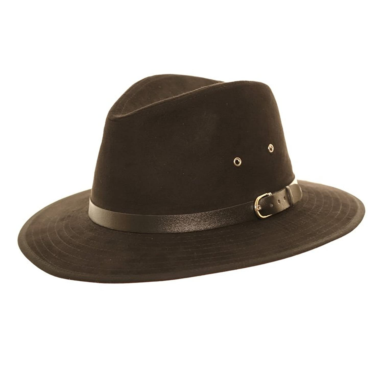Unisex Faux Suede verano Panamá Fedora Sombrero de fieltro con amplia visera  y cinturón banda  Amazon.es  Ropa y accesorios 770ec24d780