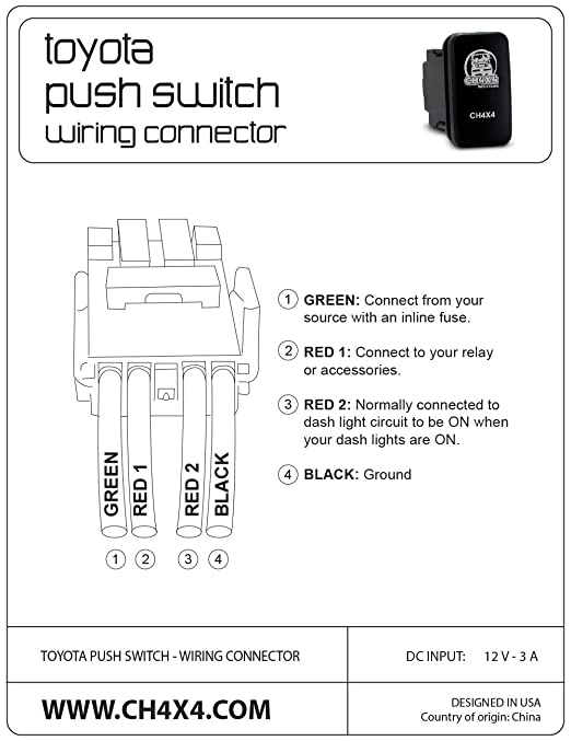 Amazon.com: CH4X4 Push Switch for Toyota - Military Nuclear ... on switch circuit diagram, switch lights, network switch diagram, relay switch diagram, wall switch diagram, switch starter diagram, 3-way switch diagram, switch battery diagram, electrical outlets diagram, switch socket diagram, rocker switch diagram, switch outlets diagram,