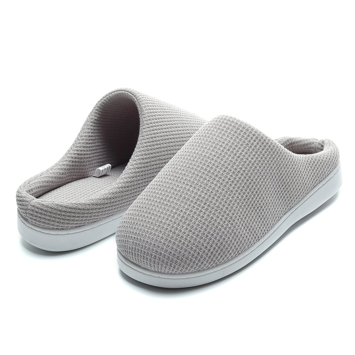 Slippers for Men Memory Foam Cozy Plush Breathable Indoors Lightweight Non-Skid Machine Washable