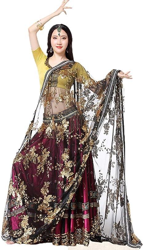 Vestido de Danza del Vientre Ropa de Rendimiento para Mujeres ...