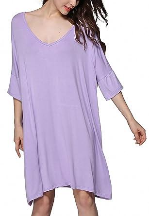0ed0b5ece9ff Women Lncrease Size Cotton Nightgowns Sleepshirts Summer Home Dress ...