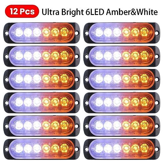 omufipw - Lote de 12 Luces LED estroboscópicas de Emergencia de 12 ...
