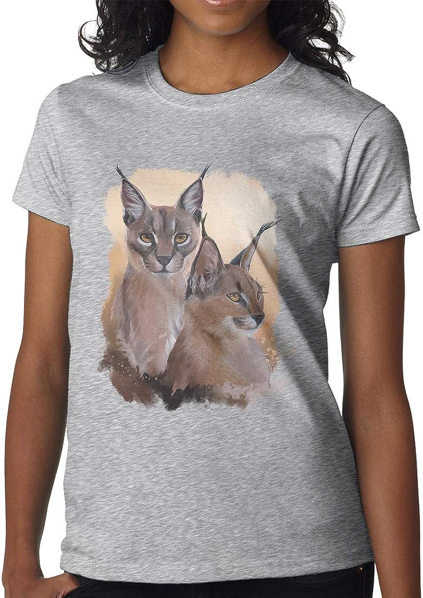 FengZe Designed T Shirt Raccoon O-Neck Funny T Shirts for Girl Black