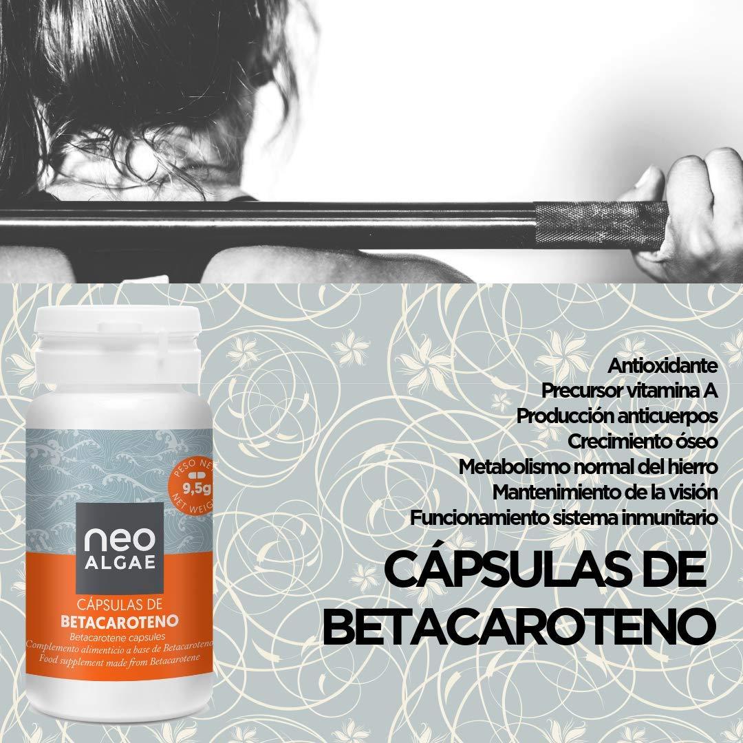 Cápsulas de Betacaroteno Neoalgae   Bronceado Natural   Antioxidante   30 Cápsulas En Forma De Perlas, con alto contenido en betacaroteno procedente de la ...