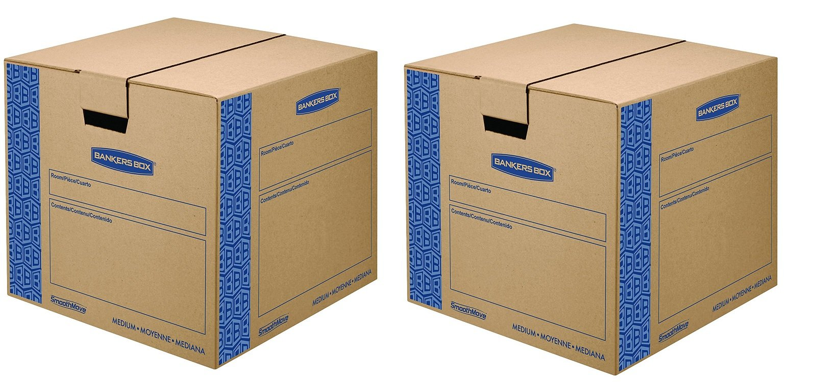 Bankers Box SmoothMove Prime Moving Boxes, Tape-Free and Fast-Fold Assembly, Medium, 18 x 18 x 16 Inches, 8 Pack (0062801) (2-(8 Pack))