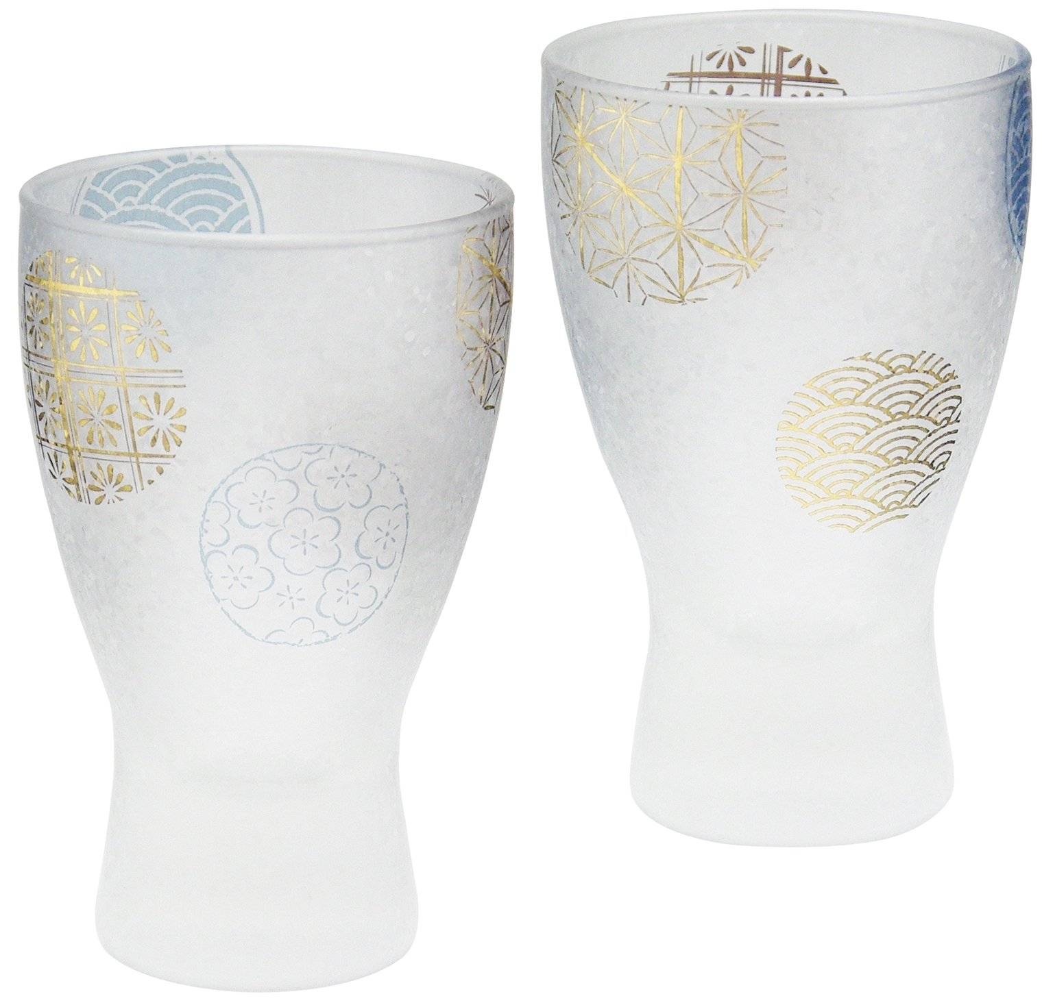 Adelia Sake Glass 100ml Pair Set Premium Round Printing Series S-6210